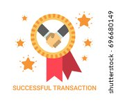 successful transaction icon... | Shutterstock .eps vector #696680149