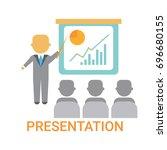 presentation business man...   Shutterstock .eps vector #696680155