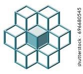 block chain shape on white... | Shutterstock .eps vector #696680545