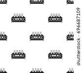 tubes icon black. single... | Shutterstock . vector #696687109