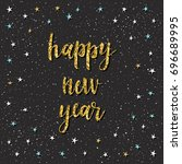happy new year card.... | Shutterstock .eps vector #696689995