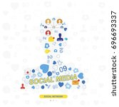icons of social networks and...   Shutterstock .eps vector #696693337