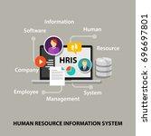 hris human resources... | Shutterstock .eps vector #696697801