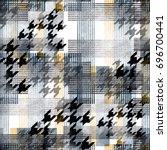 seamless pattern tartan design. ... | Shutterstock . vector #696700441