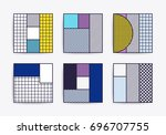 collection with trendy... | Shutterstock .eps vector #696707755