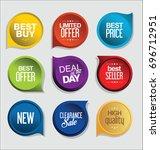 abstract modern vector sticker... | Shutterstock .eps vector #696712951