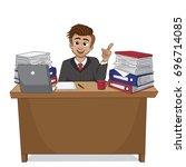 businessman have a new idea... | Shutterstock .eps vector #696714085
