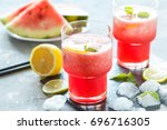 cold homemade watermelon... | Shutterstock . vector #696716305