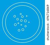 hot sauce icon blue outline... | Shutterstock .eps vector #696716869