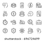 business line icons. group ... | Shutterstock .eps vector #696724699