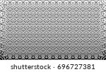 black and white relief convex... | Shutterstock . vector #696727381