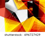 vector low poly style 3d... | Shutterstock .eps vector #696727429