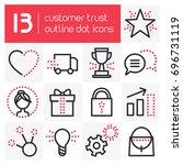 customer trust outline dot icons   Shutterstock .eps vector #696731119