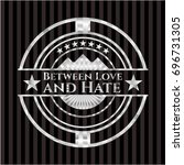 between love and hate silver... | Shutterstock .eps vector #696731305