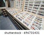 glasses in shop | Shutterstock . vector #696731431