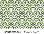colorful textured seamless... | Shutterstock . vector #696734674