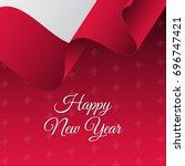 happy new year banner. poland... | Shutterstock .eps vector #696747421