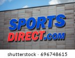 Small photo of KAUNAS, LITHUANIA, 28 JULY, 2017: Sports Direct logo with blue sky. Sports Direct International plc is a British retailing group.