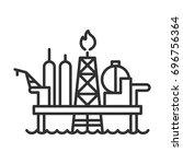 offshore drilling platform   Shutterstock .eps vector #696756364