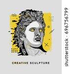 creative modern classical... | Shutterstock .eps vector #696756799