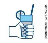 juice glass cup | Shutterstock .eps vector #696757885