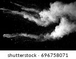 freeze motion of white dust... | Shutterstock . vector #696758071