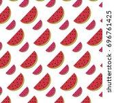 delicious watermelon fruit... | Shutterstock .eps vector #696761425