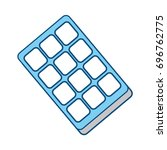 sweet chocolate bar | Shutterstock .eps vector #696762775