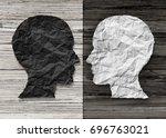 bipolar mental health and brain ... | Shutterstock . vector #696763021
