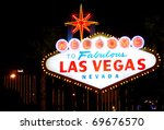 welcome to las vegas  nevada ... | Shutterstock . vector #69676570
