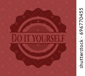 do it yourself red emblem. retro | Shutterstock .eps vector #696770455