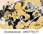 golden and black marble... | Shutterstock . vector #696775177