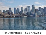 seattle  wa  25 feb 2017  view... | Shutterstock . vector #696776251