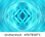 brilliant blue tunnel... | Shutterstock . vector #696783871