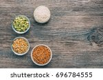 rice  buckwheat  peas and... | Shutterstock . vector #696784555