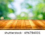 wooden worktop surface with old ... | Shutterstock . vector #696786031
