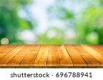 empty wooden table perspective... | Shutterstock . vector #696788941