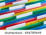 colored file folder with tabs... | Shutterstock . vector #696789649
