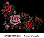 embroidery traditional simplify ... | Shutterstock .eps vector #696790621