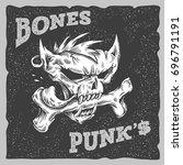 bones punks vector illustration....   Shutterstock .eps vector #696791191