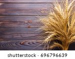 Wheat Stems  On Wooden...