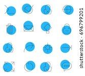 vector illustration of 16 ui...