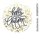 autumn   hand drawn vector...   Shutterstock .eps vector #696800074