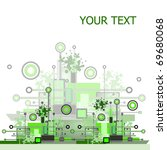 grunge   hi tech vector... | Shutterstock .eps vector #69680068