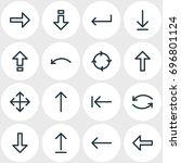 vector illustration of 16 arrow ... | Shutterstock .eps vector #696801124