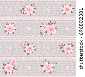 seamless floral pattern. lace... | Shutterstock .eps vector #696802381