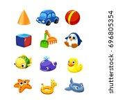 equipment for the entertainment ... | Shutterstock .eps vector #696805354