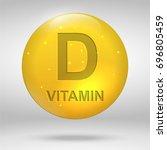 vitamin d. cholecalciferol... | Shutterstock .eps vector #696805459
