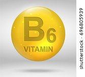 vitamin b6. pyridoxine vitamin... | Shutterstock .eps vector #696805939