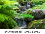 waterfall in tallin  estonia.... | Shutterstock . vector #696811969